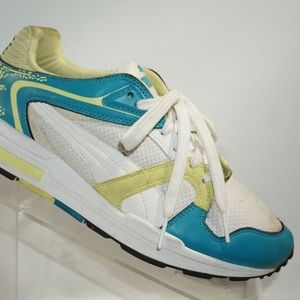 Puma Size 5.5 M Blue White Sneaker Womens C1A A13